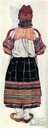 Калужский костюм с понёвой.