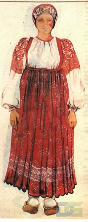 Калужский костюм с сарафаном.