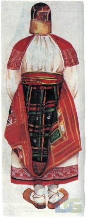 Курский костюм с понёвой.