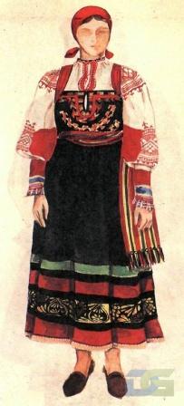 Курский костюм с сарафаном.