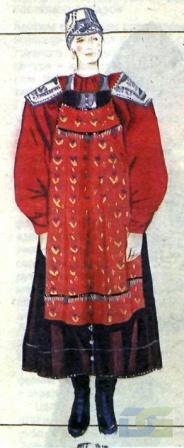 Нижегородский костюм с красной рубахой.