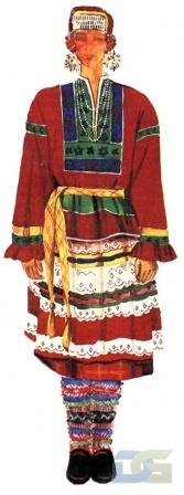 Нижегородский костюм с понёвой.