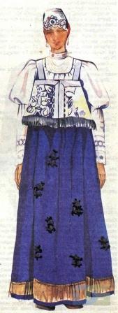 Нижегородский костюм с сарафаном.