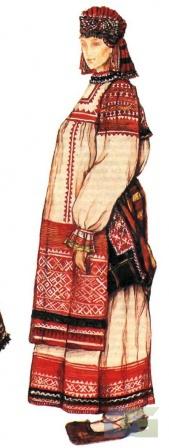 Орловский костюм с понёвой.