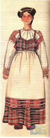 Рязанский костюм с сарафаном.