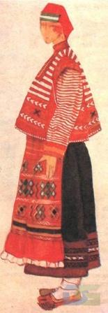 Рязанский костюм с укороченным навершником.