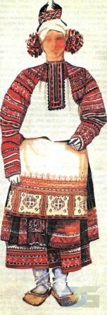Смоленский костюм с понёвой.